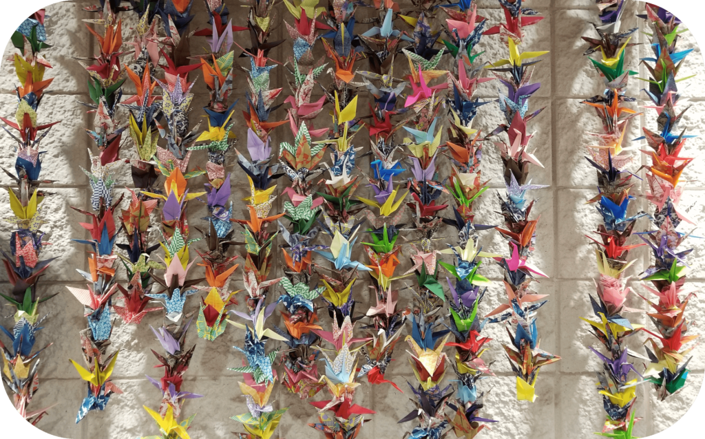 1,000 Paper Cranes at Dawson County Library