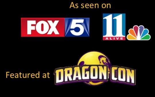Logos for local television stations and DragonCon convention