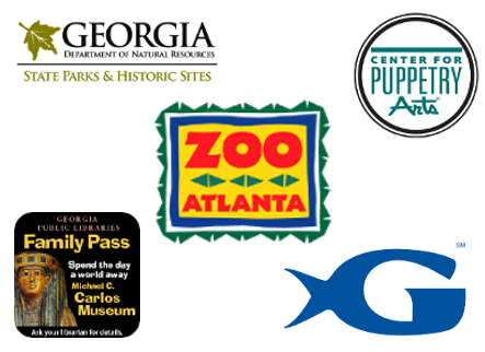 Various family pass program logos