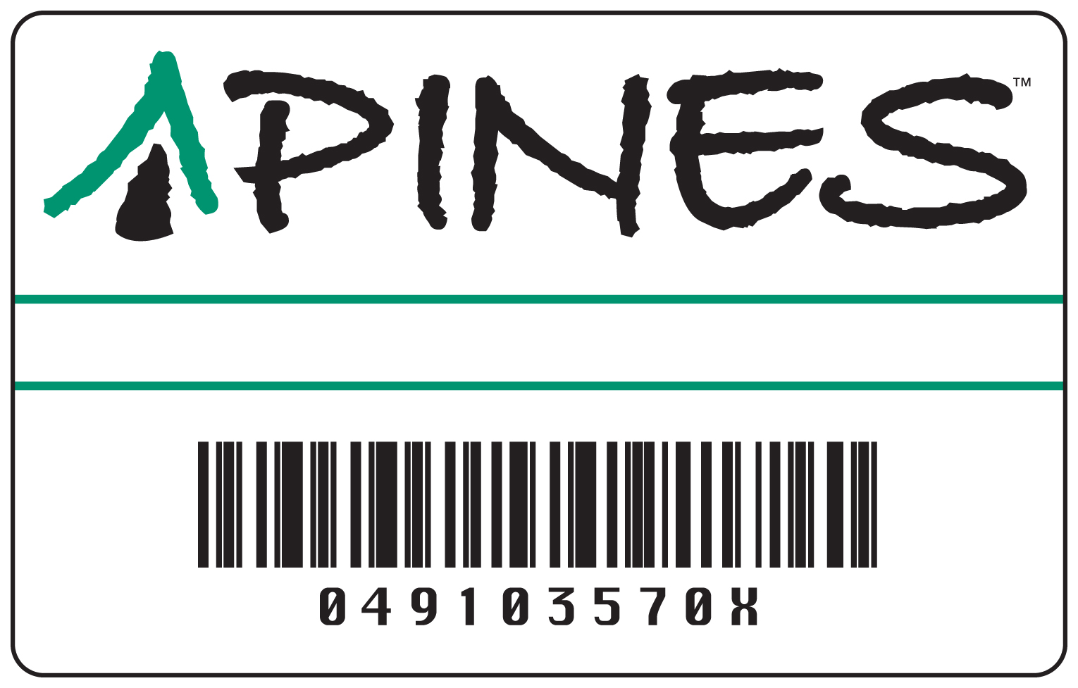Image of a PINES library card