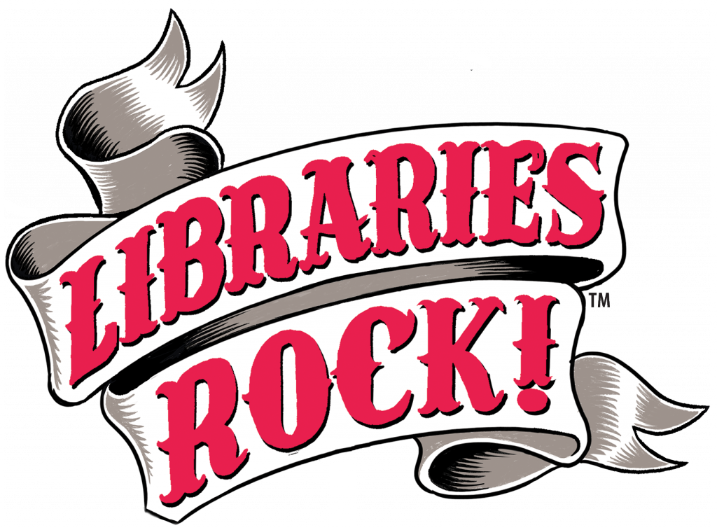 Libraries Rock slogan