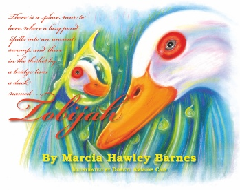 Cover of children's picture book depicting a duck